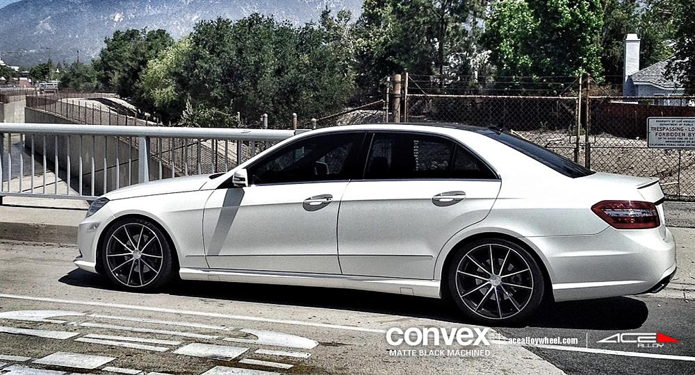 Ace 19 convex wheels w mercedes benz e350 for Black rims for mercedes benz e350